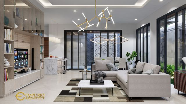 Desain Rumah Modern 2 Lantai Bapak Boyke di  Jakarta Timur