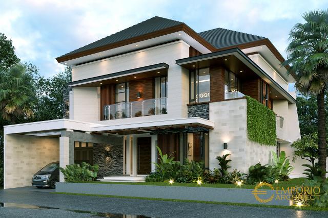 Desain Tampak Depan 1 Rumah Modern 2 Lantai Bapak Dodik di Jakarta Timur
