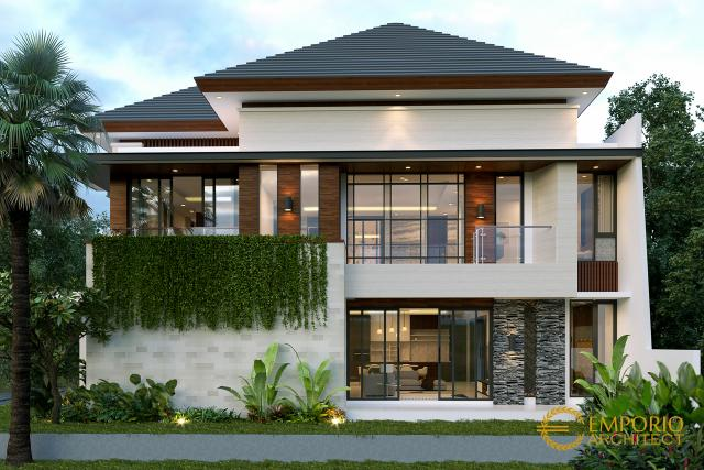 Desain Tampak Samping Rumah Modern 2 Lantai Bapak Dodik di Jakarta Timur