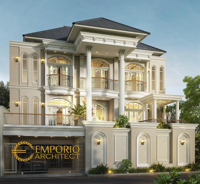 Desain Rumah Classic 3 Lantai Ibu Michelle di  Jakarta Timur