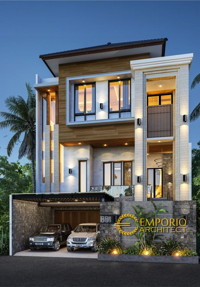 Desain Rumah Modern 4 Lantai Bapak Toni Tchin di  Jakarta Utara