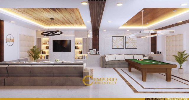 Desain Ruang Entertainment Rumah Bapak Toni Tchin di Jakarta Utara