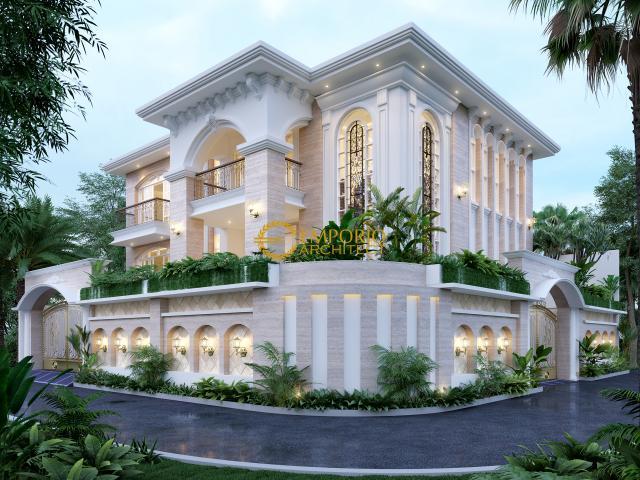 Desain Rumah Hook Mediteran 2 Lantai Bapak William di  Jakarta Utara