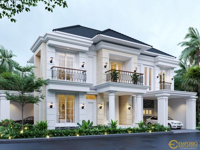 Desain Rumah Classic 2 Lantai Ibu Menik di  Jatibening, Bekasi