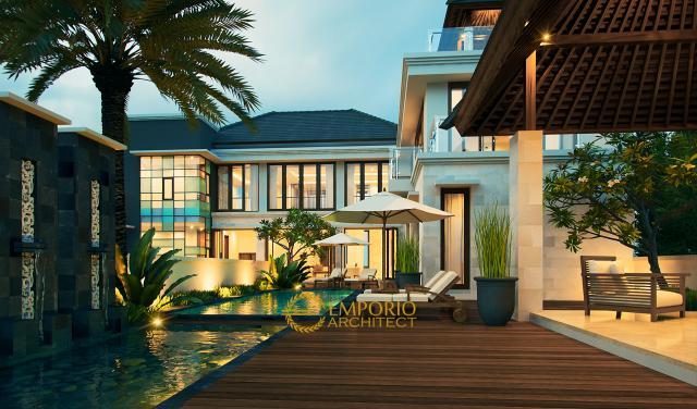 Desain Rumah Villa Bali 2 Lantai Bapak Asep Lesmana di  Kuningan, Jawa Barat
