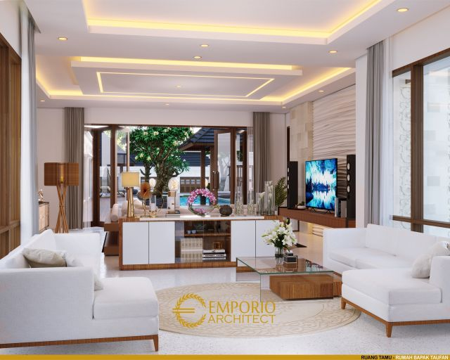 Desain Rumah Villa Bali 1 Lantai Bapak Taufan di  Jember, Jawa Timur