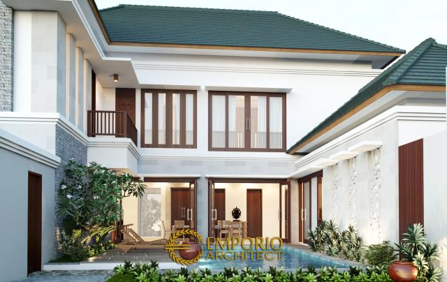 Desain Rumah Hook Villa Bali 2 Lantai Bapak Suharyoso di  Kalimantan