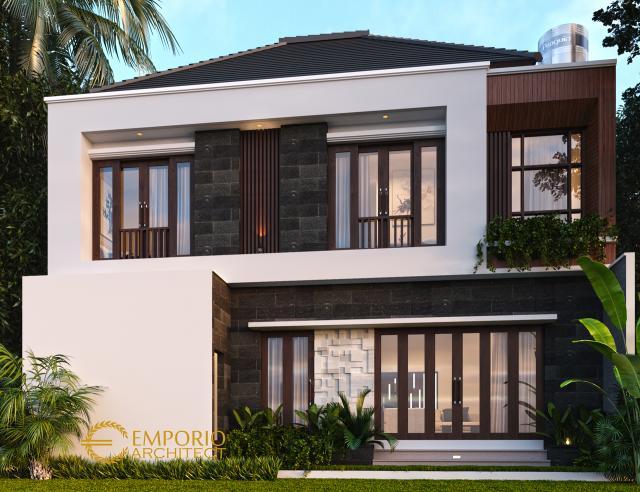 Desain Tampak Belakang Rumah Modern 2 Lantai Bapak Deni di Karawang, Jawa Barat