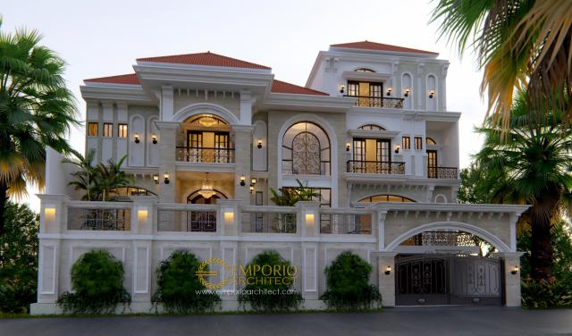 Desain Rumah Mediteran 3 Lantai Bapak Sanjay II di  Kebayoran, Jakarta Selatan