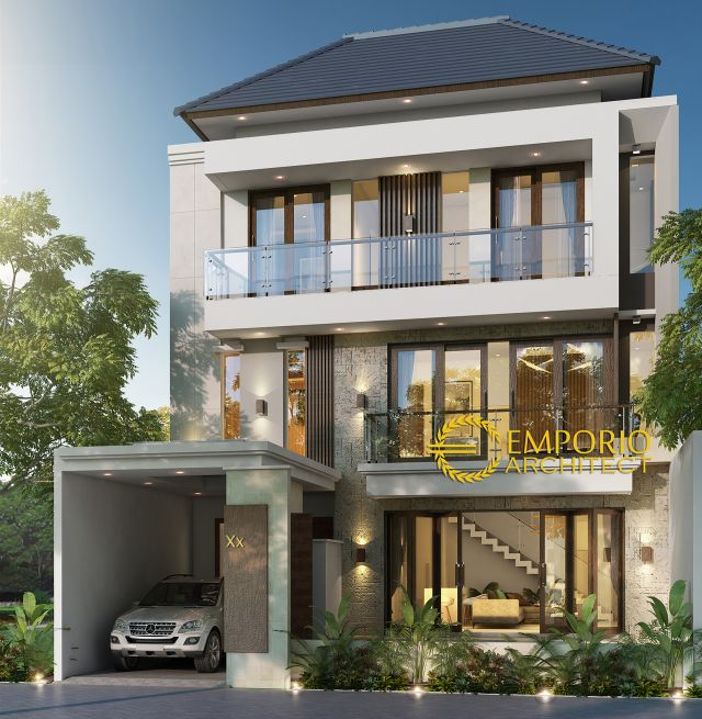 Desain Rumah Modern 3 Lantai Mr. Sylvain dan Mr. Daine di  Kerobokan, Badung, Bali