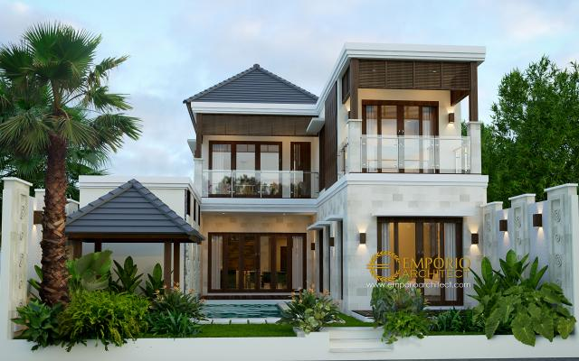 Mrs. Rina Villa Bali House 2 Floors Design - Lampung