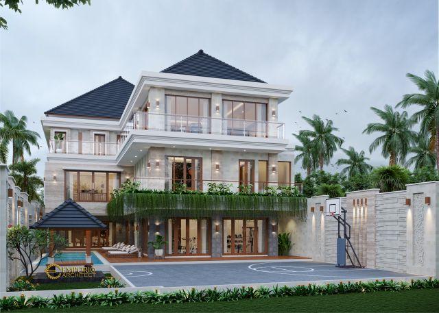Desain Rumah Villa Bali 3 Lantai Bapak Alfred di  Makassar