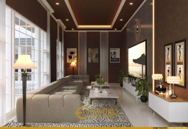 Desain Home Theater Rumah Bapak Yasir di Makassar, Sulawesi Selatan