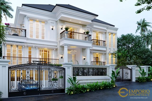 Mr. Christ Classic House 3 Floors Design - Malang