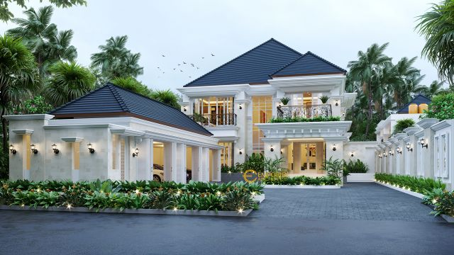 Mr. Hendra Classic House 2 Floors Design - Medan
