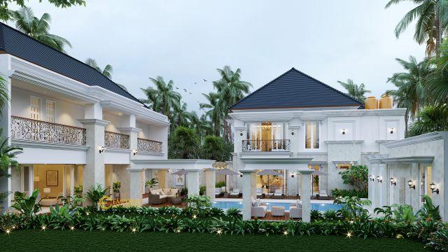 Mr. Hendra Classic House 2 Floors Design - Medan