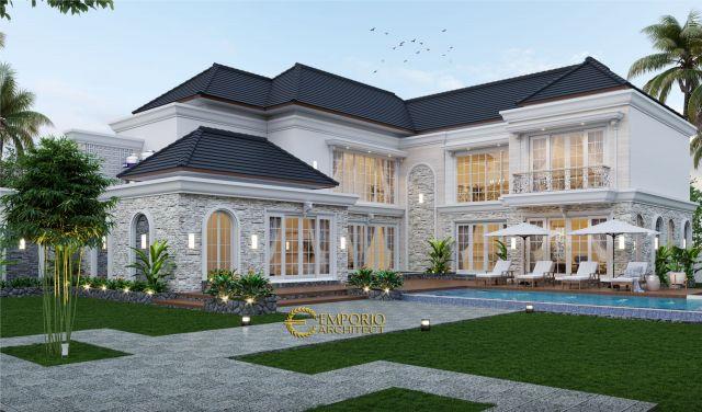 Desain Rumah Classic 2 Lantai Ibu Endah di  Palembang