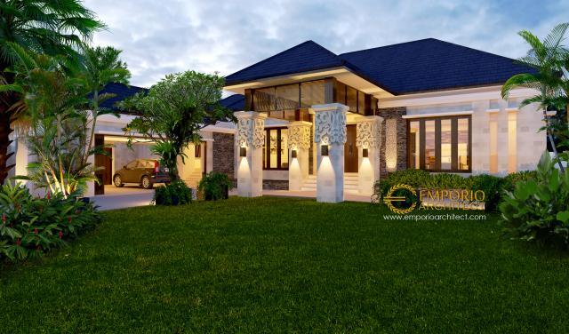 Mrs. Zahara Villa Bali House 1 Floor Design - Palembang