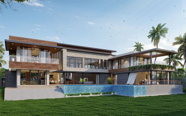 Mr. Abarham Modern House 2 Floors Design - Palembang, Sumatera Selatan