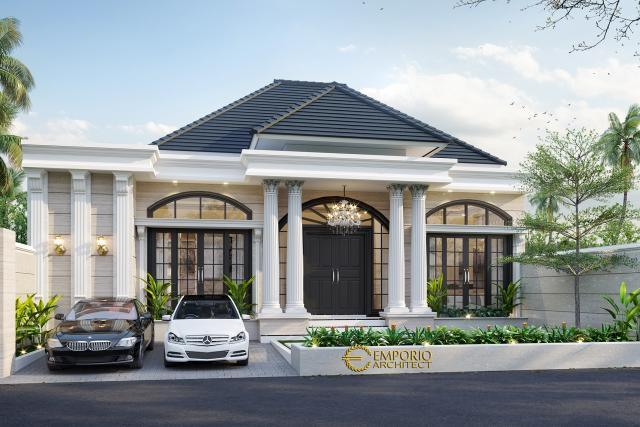 Desain Tampak Depan Rumah Classic 1 Lantai Ibu Kristina Howay di Papua