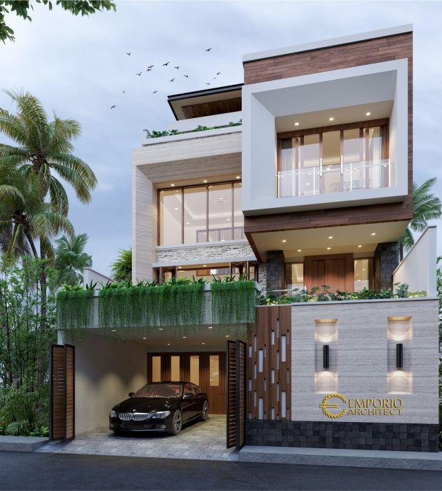Desain Rumah Modern 3 Lantai Bapak Vendi di  Petitenget, Badung, Bali