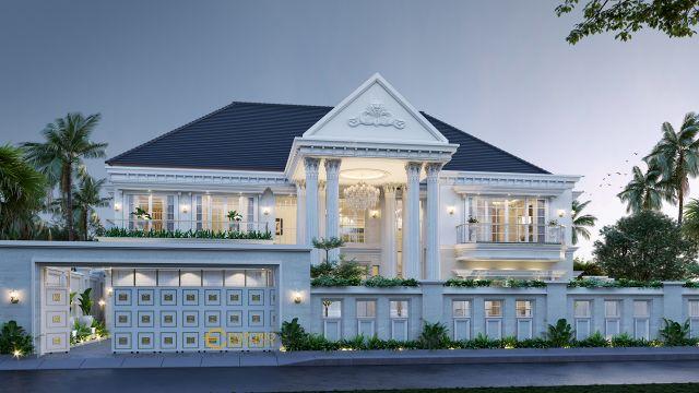 Mr. Fariz Classic House 2 Floors Design - Pontianak
