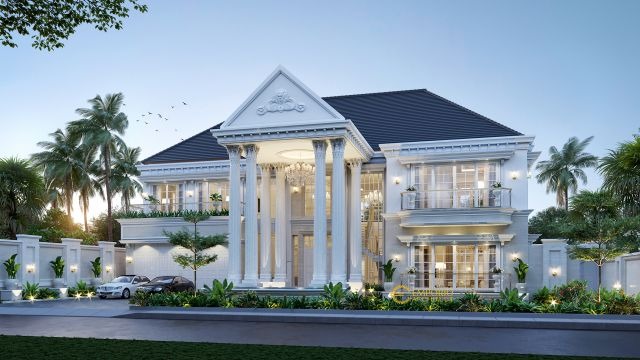 Mr. Fariz Classic House 2 Floors Design - Pontianak