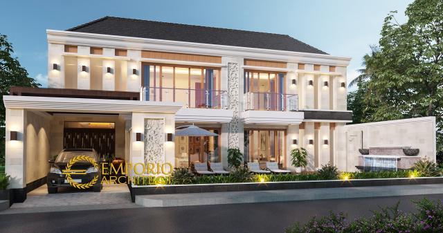 Desain Tampak Depan 2 Rumah Villa Bali 2 Lantai Bapak Freddy di Seminyak, Badung, Bali