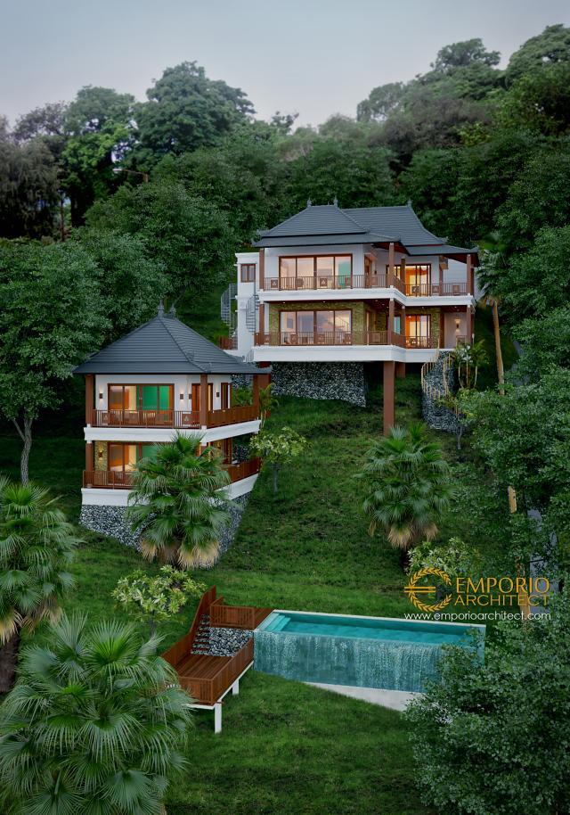 Desain Exterior 2 Villa Style Villa Bali 2 Lantai Bapak Anto di Singaraja, Bali