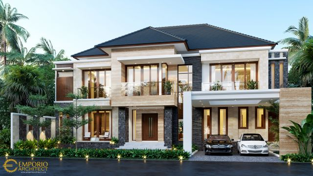 Mr. Jefry Modern House 2 Floors Design - Sulawesi