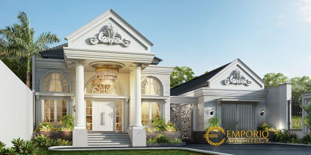 Desain Rumah Classic 1 Lantai Ibu Resha di  Sumatera Selatan