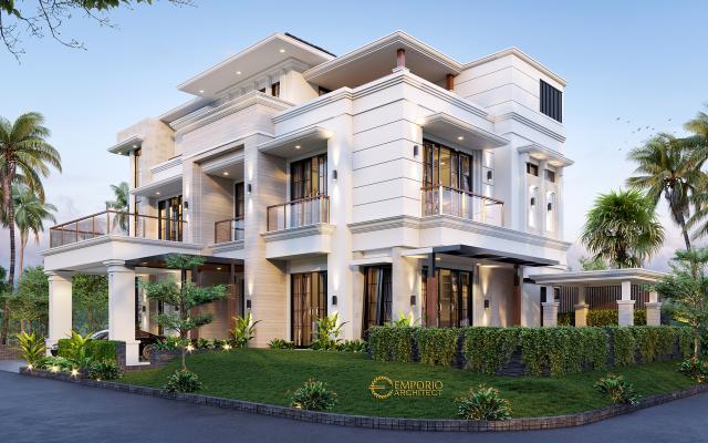 Desain Rumah Hook Classic 3 Lantai Bapak Herry di  Tangerang, Banten