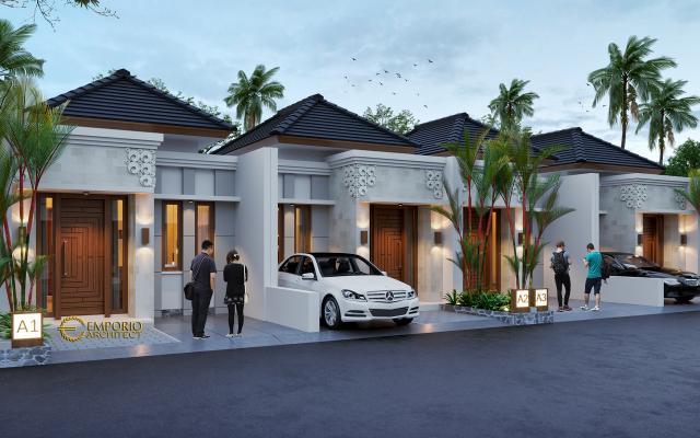 Desain Tipe A 5x12 Night Perumahan Villa Bali The Wimala by Gemintang Land di Tangerang Selatan, Banten