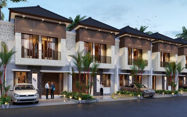 Desain Tipe C 6x12 Night Perumahan Villa Bali The Wimala by Gemintang Land di Tangerang Selatan, Banten