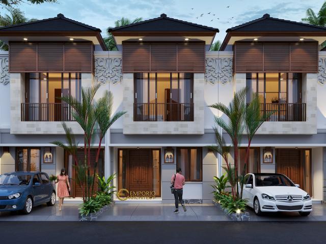 Desain Tipe B 5x12 Depan Perumahan Villa Bali The Wimala by Gemintang Land di Tangerang Selatan, Banten