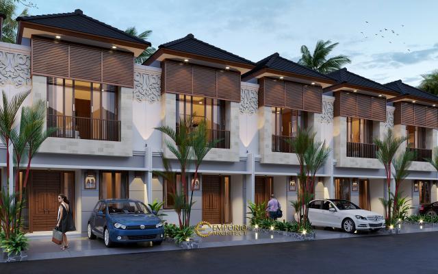 Desain Tipe B 5x12 Night Perumahan Villa Bali The Wimala by Gemintang Land di Tangerang Selatan, Banten