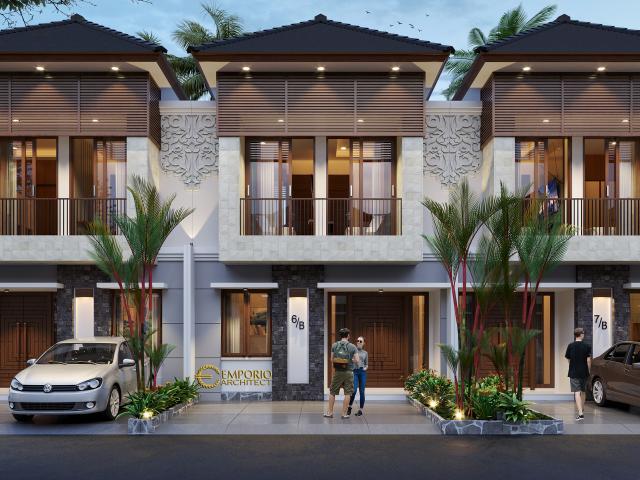 Desain Tipe C 6x12 Depan Perumahan Villa Bali The Wimala by Gemintang Land di Tangerang Selatan, Banten