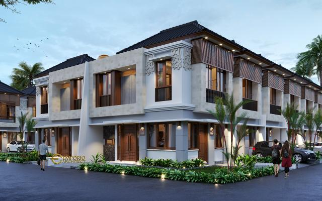 Desain Tipe D 5x12 Hook Night Perumahan Villa Bali The Wimala by Gemintang Land di Tangerang Selatan, Banten