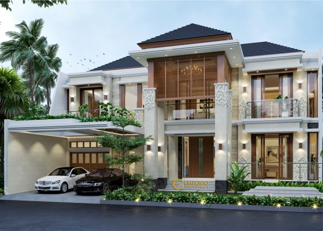 Desain Rumah Villa Bali 2 Lantai Bapak Rahmad di  Tangerang Selatan, Banten