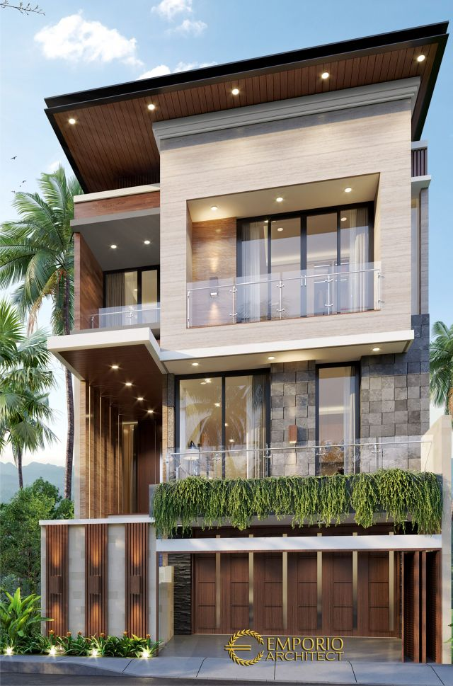 Mr. Aprian Modern House 3 Floors Design - Yogyakarta