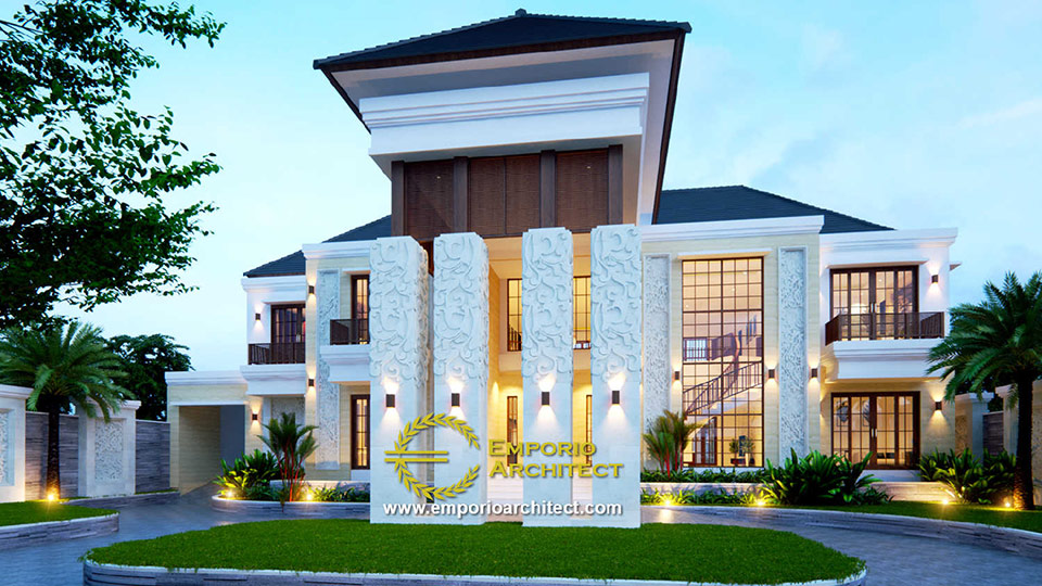 Desain Rumah Style Villa Bali